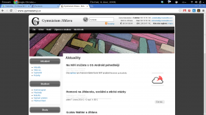 GJ Wi-Fi Přihlašovač na stránkách Gymplu